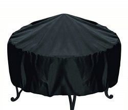 Elevavie Round Fire Pit Cover – Waterproof & Weather Resistant Protective Garden Patio ...