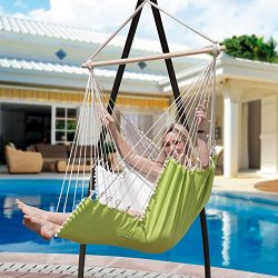Lazy Daze Hammocks Hanging Hammock Swing Chair Outdoor Patio Porch Swing Seat with 2 Cushions an ...