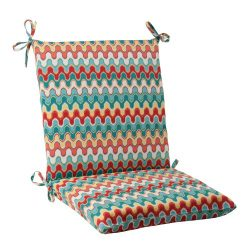 Pillow Perfect Indoor/Outdoor Nivala Squared Chair Cushion, Blue