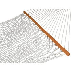 ZENY 59″ Cotton Rope Double Hammock with Spreader Bars