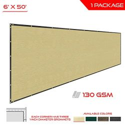 The Patio Shop Privacy Fence Screen 6′ x 50′ Commercial Outdoor Shade Windscreen Mes ...