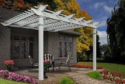 Freemont 12′ x 12′ Attached Vinyl Pergola