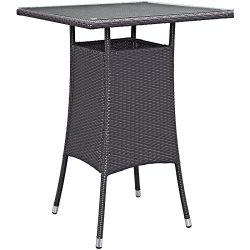 Modway Convene Small Outdoor Patio Bar Table, Espresso
