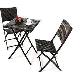 Oakville Furniture Parma Style Rattan Patio Bistro Set, Weather Resistant Outdoor Furniture Sets ...