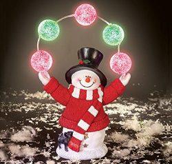 Trenton Gifts Solar Juggling Snowman Christmas Light Decor