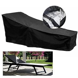 Fellie Cover 82-inch Patio Chaise Lounge Covers, Durable Outdoor Chaise Lounge Covers Water Resi ...