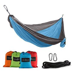 HomEco Hammock, Double and Single Camping Hammocks, Lightweight Nylon Parachute Multifunctional  ...
