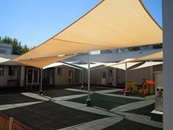 Shade&Beyond 280GSM 8'x10′ Heavy Duty Rectangle Shade Sail UV Top Outdoor Canopy ...
