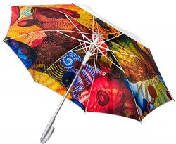 Chihuly Pergola Umbrella Silver (Stick)