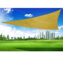 Outsunny  Triangle Outdoor Patio Sun Shade Sail Canopy,  18-Feet,  Sand