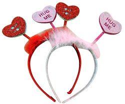 Westin Works Valentines Day Headband Love Conversation Heart Bobble bopper, Set Of 2