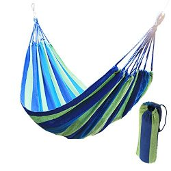 Wide Hammock Cotton Soft Woven Bed for Supreme Comfort Fabric Travel Camping Hammock for Backyar ...