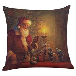 Hot Sale!!! Christmas Pillow Case,Jushye Xmas Printing Dyeing Sofa Bed Home Decor Pillow Cover  ...