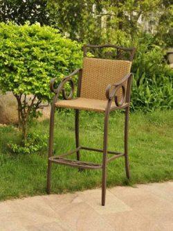 International Caravan Valencia Bar Height Wicker Chair (Set of 2)