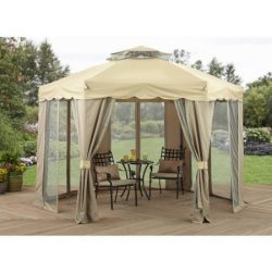 Better Homes and Gardens 12′ x 12′ Gilded Grove Gazebo, Water-repellent, mildew- and ...