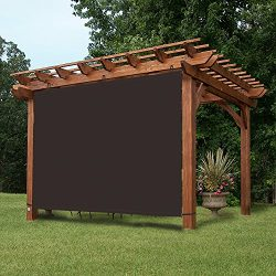 EZ2hang Waterproof 4x6ft Coffee Alternative solution for Roller Shade,Exterior Privacy Side Shad ...