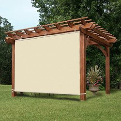 Easy2Hang Waterproof 4x6ft Wheat Adjustable Side SunShade Panel Wall for Pergola, Patio, Window, ...