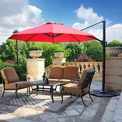Domi Outdoor Living Patio Furniture Dining Set 4 Piece Cast Aluminum Patio Furniture Conversatio ...