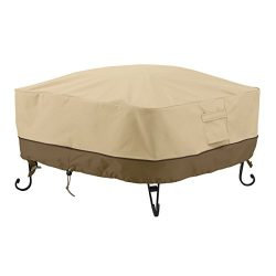 Classic Accessories Veranda Full Coverage Square Fire Pit Cover, 36-Inch