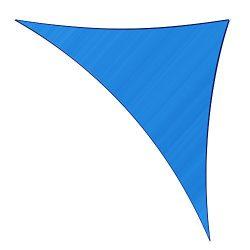 Sunlax 17′ x 17′ x 23′ Blue Color Right Triangle UV Block Sun Shade Sail Canop ...