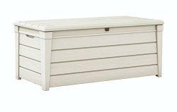 Keter Brightwood 120 Gallon Outdoor Garden Resin Patio Storage Furniture Deck Box