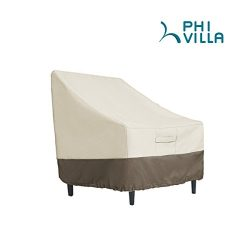 PHI VILLA Patio Lounge Chair/Club Chair Cover, Durable Waterproof Outdoor Furniture Cover, Large ...