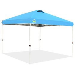 CROWN SHADES 10ft x 10ft Outdoor Pop up Portable Shade Instant Folding Canopy with Carry Bag, Blue
