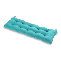 Greendale Home Fashions Outdoor 51-inch Bench Cushion, Teal