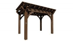 SHADESCAPE – 10×14 Pergola – 8,000 Series Heavy Timber Kit – 8×8 Pos ...