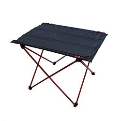 Folding Ultralight Table for Camping Hiking Roll Up Portable Table with Storage Bag for Outdoors ...