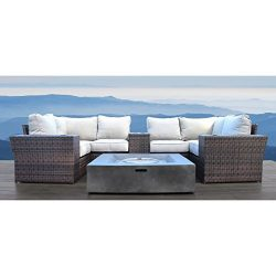 Lucca Collection Patio Furniture Sofa Garden, Sectional Furniture Set Resort Grade Furniture , N ...