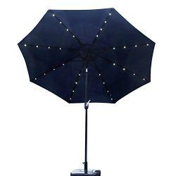 Kinbor Outdoor 9FT Table Metal Solar Powered LED Lighted Patio Umbrella Window Awning Garden Fur ...