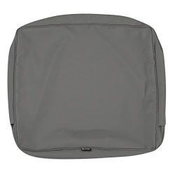Classic Accessories Montlake Patio FadeSafe Back Cushion Slip Cover, Charcoal, 19″Wx20&#82 ...