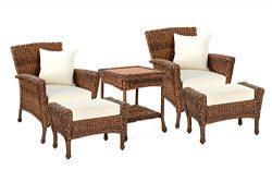 W Unlimited Rustic Collection Outdoor Furniture Light Brown Rattan Wicker Garden Patio Furniture ...