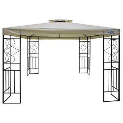 Quictent 10′ x 10′ Metal Gazebo Patio Gazebo Canopy Waterproof Backyard Shelter (Beige)