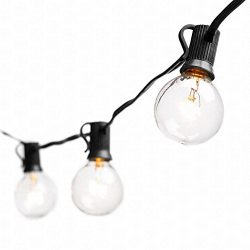 Globe String Lights with G40 Bulbs by Deneve – Outdoor Garden Party Patio Bistro Market Cafe Han ...