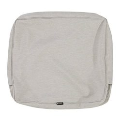 Classic Accessories Montlake Patio FadeSafe Back Cushion Slip Cover, Grey, 23″Wx22″H ...