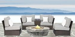 Lucca collection (6-piece Firepit Lounge Set)