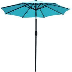 SNAIL 7.2 ft Aluminum Patio Umbrella Sunshade UV Water Resistant Small Table Umbrella Outdoor Ta ...