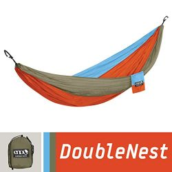 ENO Eagles Nest Outfitters – DoubleNest Hammock, Portable Hammock for Two, Powder Blue/Ora ...