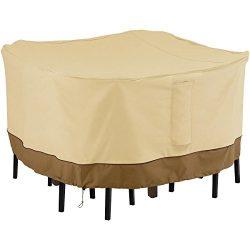 Classic Accessories 55-906-031501-00 Veranda Square Bar Height Table & Chair Set Cover, Medium