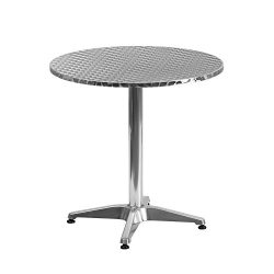 "Flash Furniture 27.5"" Round Aluminum Indoor-Outdoor Table with Base"