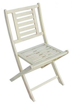 Zen Garden Wood Foldable Patio Bistro Chair, Set of 2 Chairs, 20.5″ x 19.5″ x 34.5&# ...