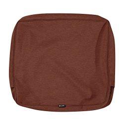 Classic Accessories Montlake Patio FadeSafe Back Cushion Slip Cover, Henna 23″Wx22″H ...