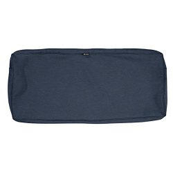 Classic Accessories Montlake Patio FadeSafe Bench Cushion Slip Cover, Indigo 59″Wx18″ ...
