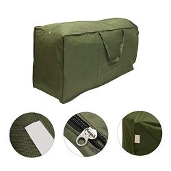 Patio Cushion Storage Bag, XGZ Waterproof Outdoor Protective Zippered Garden Storage Bag Cover F ...