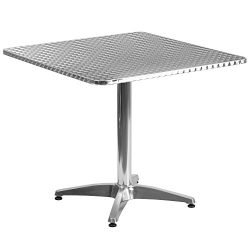 """Flash Furniture 31.5"""" Square Aluminum Indoor-Outdoor Table with Base"""