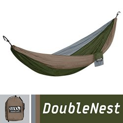 ENO Eagles Nest Outfitters – DoubleNest Hammock, Portable Hammock for Two, Khaki/Olive/Sil ...