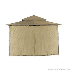 ABCCANOPY Replacement Gazebo Privacy wall for Target Madaga Gazebo (Beige)