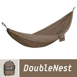 ENO Eagles Nest Outfitters – DoubleNest Hammock, Portable Hammock for Two, Khaki/Khaki